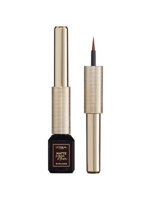 L'Oreal Paris Signature Eyeliner Matte Pennellino in Feltro Resistente all'Acqua Marrone