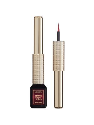 L'Oreal Paris Signature Eyeliner Matte Pennellino in Feltro Finish Extra Matte Resistente all'Acqua 05 Burgundy