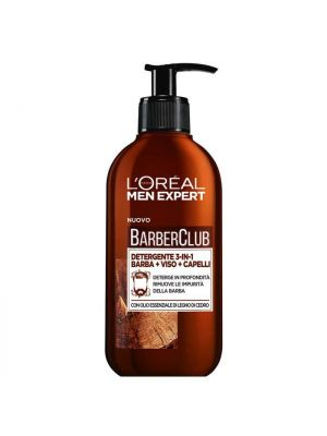 L'Oreal Paris Men Expert Barber Club Detergente 3in1 250 ml