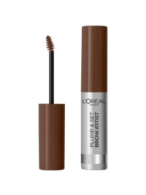 L'Oreal Paris Plump & Set by Brow Artist Mascara Sopracciglia Formula Waterproof No Transfer Smudge-Proof 105 Brunette