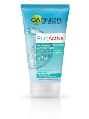 Garnier Pure Gel Detergente Esfoliante Anti Punti Neri 150 ml