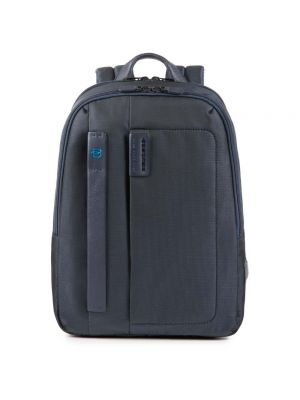 Piquadro Pulse P16 Zaino piccolo porta PC e iPad - chevron/blu