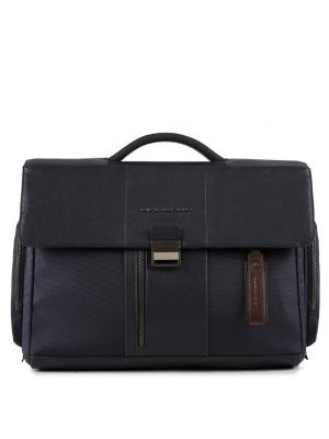 Piquadro Brief Cartella con patta, porta PC  e iPad - blu