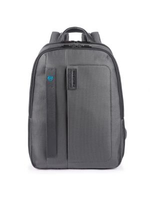Piquadro Pulse P16 Zaino piccolo porta PC e iPad - chevron/grigio